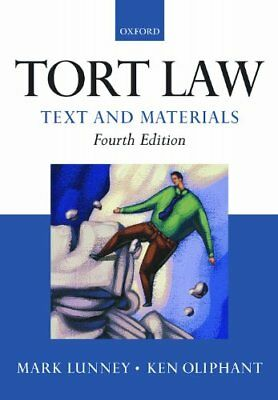 £3.68 • Buy Tort Law: Text And Materials-Mark Lunney, Ken Oliphant, 9780199571802