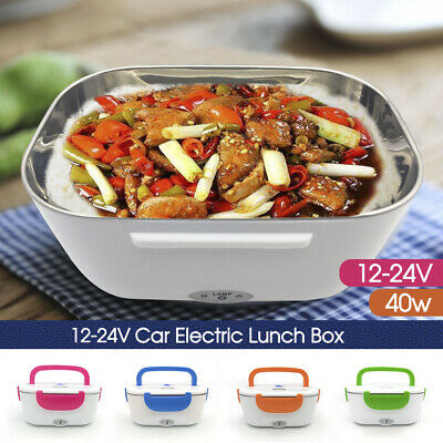 AU22.68 • Buy Portable Electric Heated Car Plug Heating Lunch Box Bento Food Warmer 12V AU