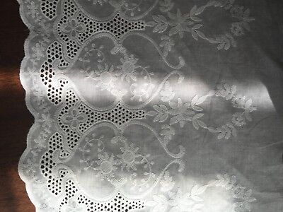 Cotton Embroidery Lace Fabric DIY  Material Width 32 Cm 1 Yard • 6.29£