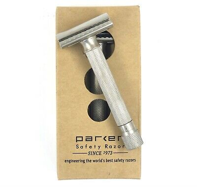 AU83.95 • Buy Parker Variant ADJUSTABLE Safety Razor Satin + 5 Parker Double Edge Blades
