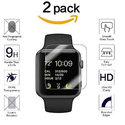 $ CDN1.09 • Buy 2x  Clear Tempered Glass Screen Protector For Apple Watch Series 3 38mm/42mm
