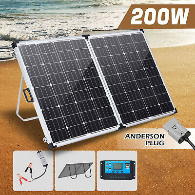 AU129 • Buy New 200W Solar Panel Folding Kit 12V Battery Charger Power Mono Boat Camping