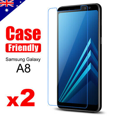 AU3.95 • Buy 2x Tempered Glass Screen Protector Film Guard For Samsung Galaxy A8 J8 2018