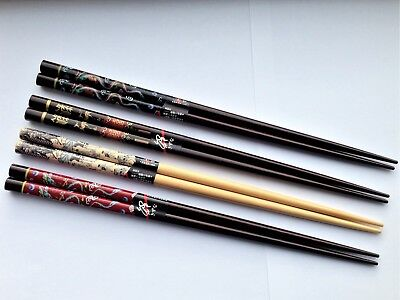 REAL CHINESE CHOPSTICKS - 4 Stunning Designs - Rapid Same Day Despatch • 2£