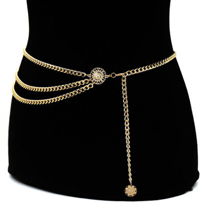 Coin Lady Beads Gold Chain Belt Adjustable Dress Waistband Decoration 2018 Gift • 3.49£