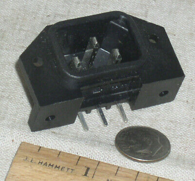 $0.99 • Buy 1 New Amphenol C6480-m 3 Pin Iec Pcb 10a Power Entry Inlet Connector Receptacle