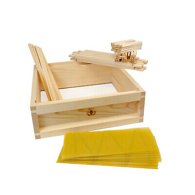 £49.99 • Buy British National Fully Assembled Wooden Bee Hive Super Inc Frames & Foundation