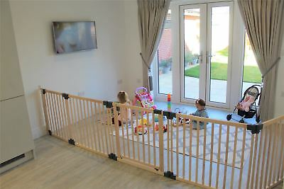 Safetots Premium Wooden Multi Panel Wide Baby Safety Gate Flexible Room Divider • 46.85£