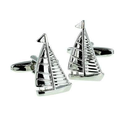 £8.95 • Buy Yacht In Full Sail Cufflinks For A Bike Rider Presented In A Box X2NC024