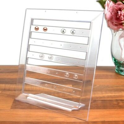 30 HOLE EARRING DISPLAY STAND Clear Acrylic Jewellery Holder Stud Rack Organiser • 4.05£