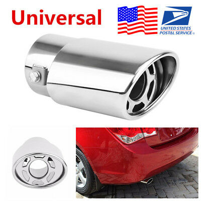 $ CDN23.40 • Buy Stainless Steel Car Round Exhaust Pipe Tip Muffler Tail Throat Cover Car-Styling