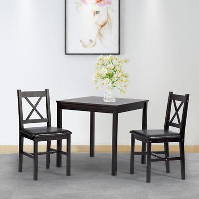 $109.99 • Buy Dining Kitchen Table Dining Set 3 Piece Wood In Door Farmhouse Dining Table Set