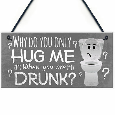 £3.99 • Buy Novelty Bathroom Toilet Plaque Funny Home Decor Hanging Shabby Chic Sign Gift