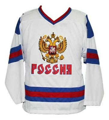 $44.49 • Buy Any Name Number Size Team Russia Retro Hockey Jersey New White Ovechkin