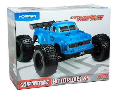 New Arrma 2020 1/8 Scale Notorious 6S BLX Truggy RC Truck RTR Ready To Run Blue • 393.38£