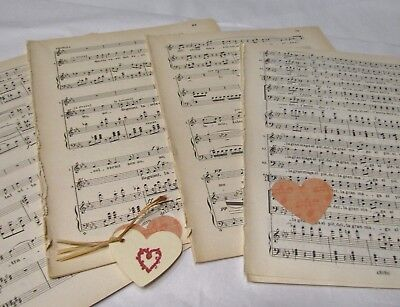 £3.99 • Buy **20 Sheets Vintage Manuscript Music Paper, Decoupage, Art Projects, Crafting,