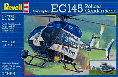 REVELL 04653 EUROCOPTER EC145 Level 3 Police Helicopter 1:72 Scale Kit 92 Parts • 14.99£