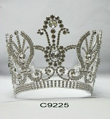 $ CDN349.93 • Buy C9225 5  Pageant Quinceanera Bridal Crown In Silver With Adjustable Band