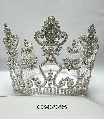 $ CDN349.93 • Buy C9226 5  Pageant Quinceanera Bridal Crown In Silver With Adjustable Band