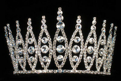 $ CDN87.47 • Buy Kwp1 Pageant Quinceanera Bridal Crown With Adjustable Band In The Back