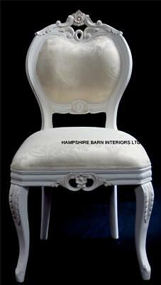 French Chateau Style Ornate Chair Dining Desk Bedroom Antique White Boudoir Shop • 325£