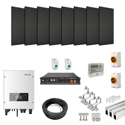 £4029.99 • Buy 3kW Solar Power Kit For Tile/Slate Roofs (with 2.4kWh Hybrid Battery Storage)