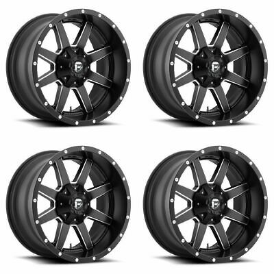 $1300 • Buy Set 4 20  Fuel Maverick D538 Black Milled Wheels 20x9 8x170 20mm Ford F250 F350