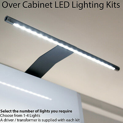 Over Cabinet LED Light & Driver Kit - COOL WHITE - Kitchen Cupboard Reading Lamp • 24.99£
