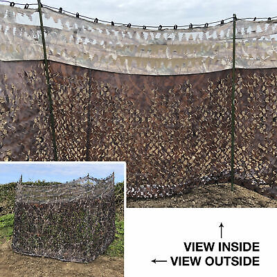 Nitehawk Camo Hunting/Shooting Blind Screen Net Hide With Clear View Top • 21.99£