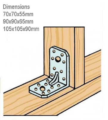 Post Support Angular Support Bracket For Square Wooden Posts Fence Garden • 1.15£
