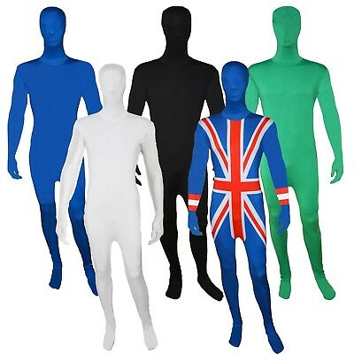Mens Zentai 2nd Skin Bodysuit Morph Costume Lycra Suit Halloween Fancy Dress • 16.99£
