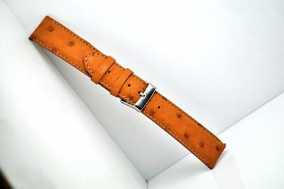 Genuine Ostrich Leather Watch Strap Handmade In Italy To Fit Rolex Omega Cartier • 56.99£