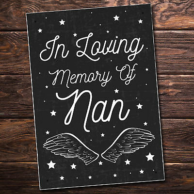 Christmas In Memory Of NAN Nanny Angel Grave Memorial Wall Plaque Gifts For Nan • 6.99£