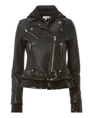 $ CDN1323.25 • Buy Iro Riley Sequin Leather Jacket 38