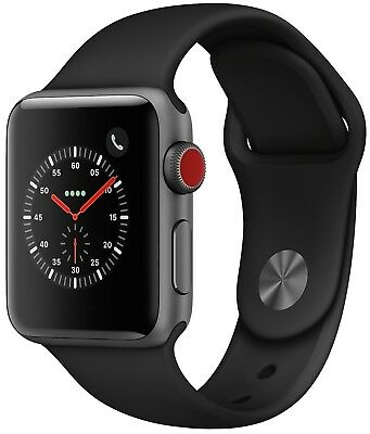 $ CDN228.08 • Buy Apple Watch Series 3 38mm Space Gray Case Black Sport Band GPS + Cellular