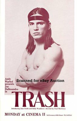 $9.98 • Buy Andy Warhol *trash* Nyc Movie Poster W-joe Dallesandro