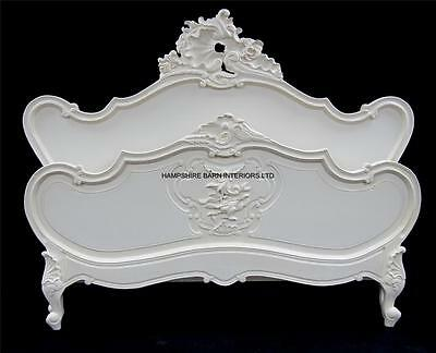 £1199 • Buy French Ornate Chateau Style Louis Bed Frame SUPER King 6ft  Antique White Carved