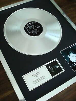 £129.99 • Buy David Bowie Heroes Lp Platinum Plated Disc Record Award Album