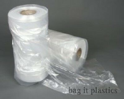 £5.70 • Buy Garment Covers Film Dry Cleaners Clear Polythene Plastic Bags Clothes Bag Bags