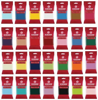 RENSHAW  250g GRAM READY ROLL ICING SUGARPASTE FONDANT NEW COLOURS AVAILABLE • 2.85£