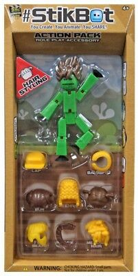 Stikbot Action Pack Series 2 Hair Styling [Green] • 12.87£