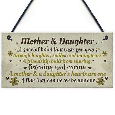 £3.99 • Buy Mother And Daughter Gift Hand Made Home Sign Plaque Mum Christmas Birthday Gift