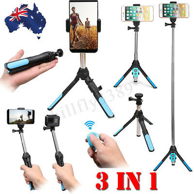 AU18.77 • Buy Handheld Monopod Selfie Stick Tripod Bluetooth Remote For GoPro SLR Camera Phone