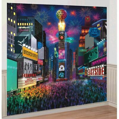 £9.40 • Buy New Years Eve Times Square Scene Setter Wall Decoration Kit