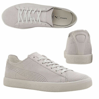Puma X STAMPD Clyde Lace Up Mens White Leather Trainers 362736 02 Y19B • 44.99£