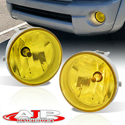 $39.99 • Buy Yellow Bumper Fog Lights Lamps + Bulbs Complete Kit For 2005-2011 Toyota Tacoma