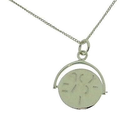 TOC Sterling Silver 'I Love You' Spinner Pendant Necklace 18  • 30.95£