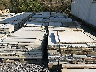 Reclaimed Second Face Yorkstone Paving - 7m2 Per Pallet. • 714£
