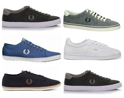 Fred Perry Mens Shoes Trainers Casual Underspin Kingston Canvas Sneakers • 44.95£