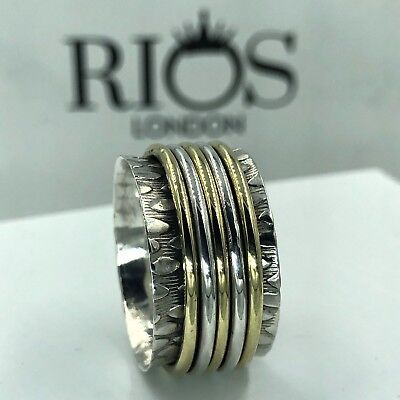 Trendy Spinning 925 Solid Sterling Silver Big Spinner Ring RRP £38.99 Boxed • 19.99£
